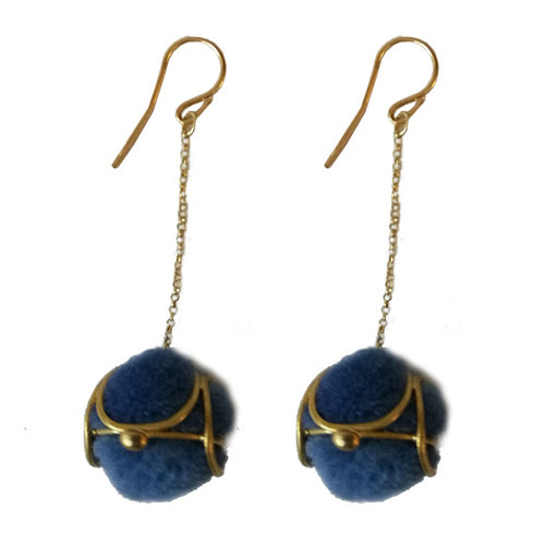 Aegean blue Lace Earrings|Bohemian earrings|Designer earrings|Exclusive Designs