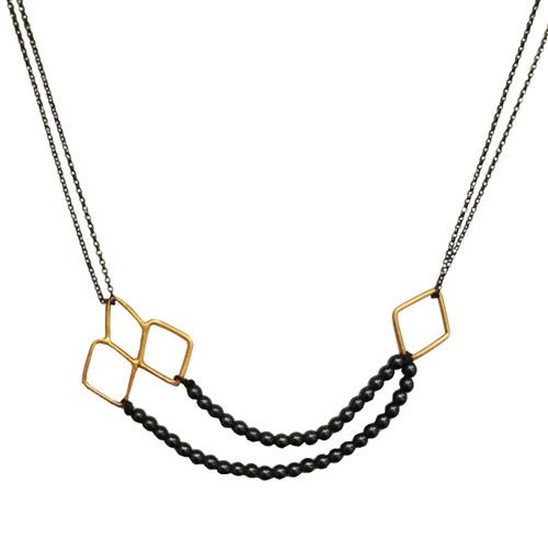 Necklace with geometric motif and Beads|Designer necklace|Elegant
