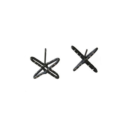 Cross Stud Earrings|Contemporary Earrings|Modern Cross