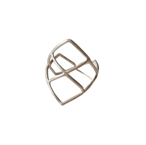 Mesh ring made of sterling silver|Designer Ring