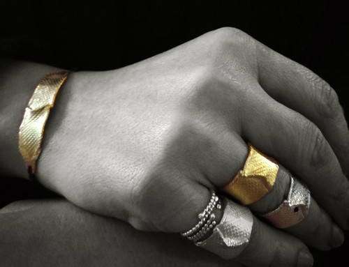 """Contemporary silver ring """"The Wave"""" Sometime you have to go with the waves"""