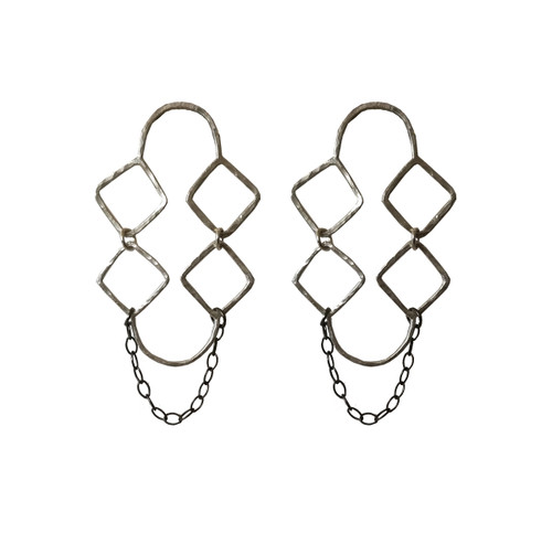 Minimal Geometric Earrings Rhombus|Greece  inspired Jewelry