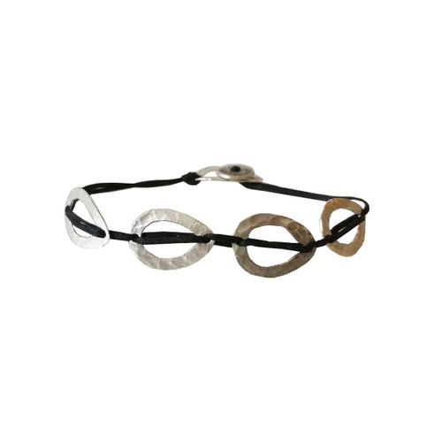 Modern open drops Bracelet from Aisha Collection Stylish Bracelet with cord