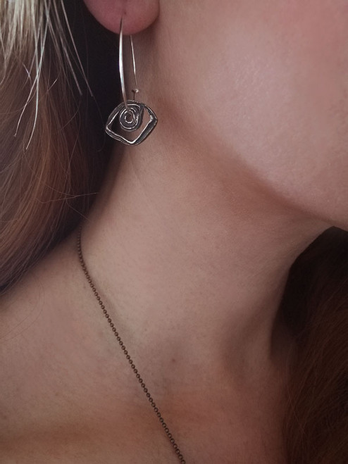 Spiral Eye Hoop Earrings|Evil Eye|Contemporary earrings