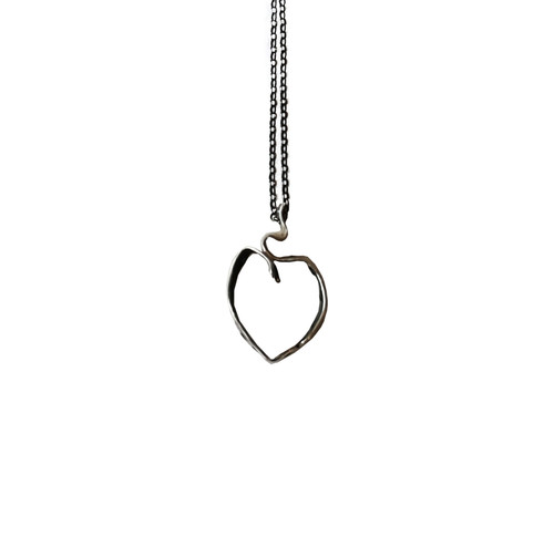 Heart Ribbon  Necklace made of silver 925 with Chain