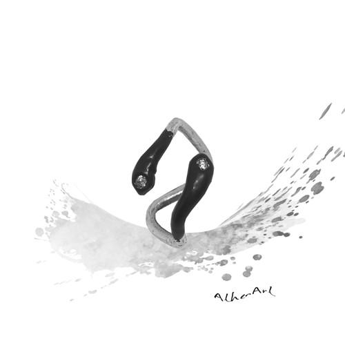 Black Mamba Ring|Unique Contemporary Designer Jewelry