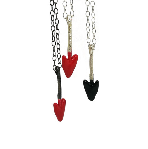Heart Shaped Arrow head pendant with chain|Unisex pendants|