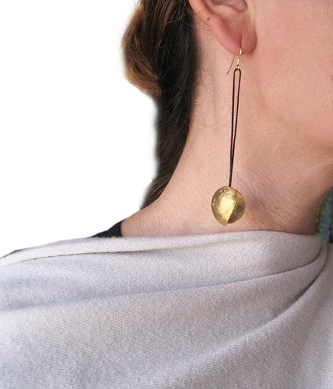 Contemporary Unusual Kelifos Earrings made of silver 925|Available in 3 Finishes