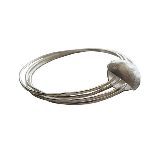 Bangle bracelet that can be worn as a necklace too|Convertible jewelry |Contemporary pendant|Modern bangle bracelet