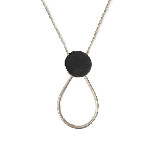 Oxidised geometric necklace
