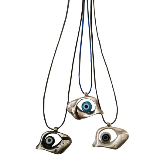 Evil eye pendant|Contemporary charm|Eye necklace|Contemporary pendant