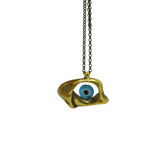 Unisex evil eye pendant|Contemporary charm|Men's eye pendant|The Eye|Designer pendant