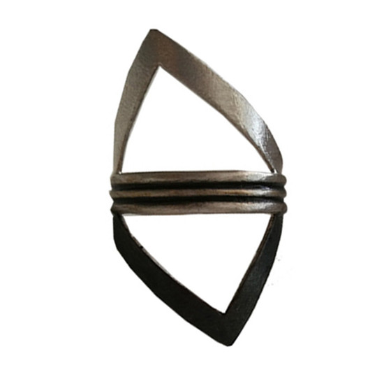 Big Triangle ring|Contemporary ring|Rocker style ring |Greek Designer