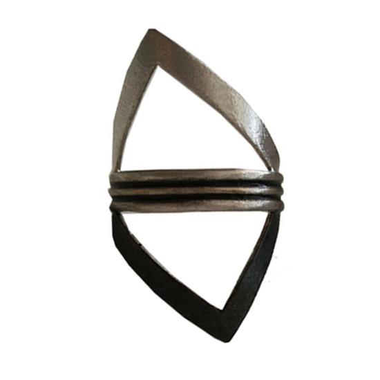 Big Triangle ring|Contemporary ring|Rocker style ring |Greek Designer