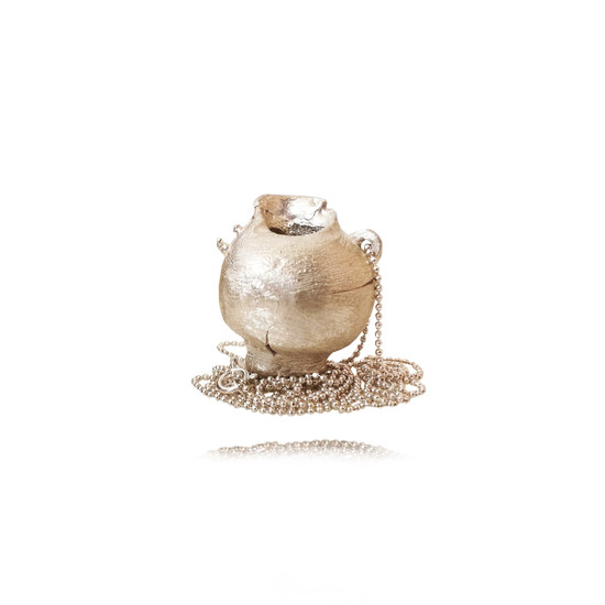 Greek pot (Oenochoe) pendant made of sterling silver|Concept jewelry|Contemporary pendant