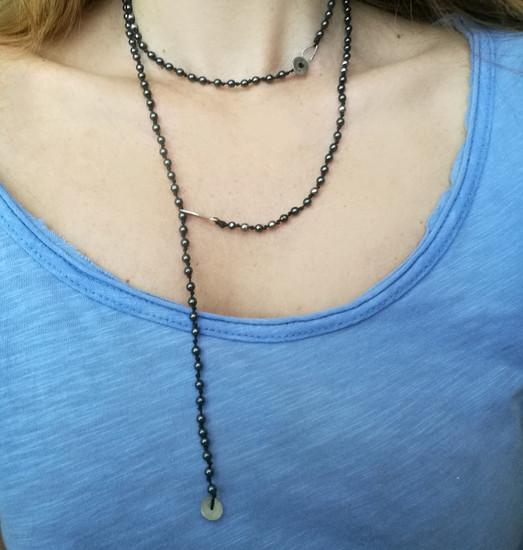 Stylish necklace with stones
