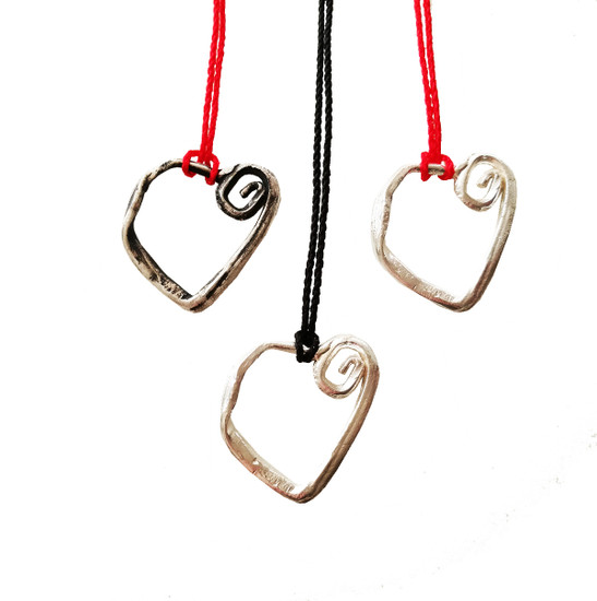 Love pendant, a spiral heart for  eternity, relationship gift, everyday jewelry