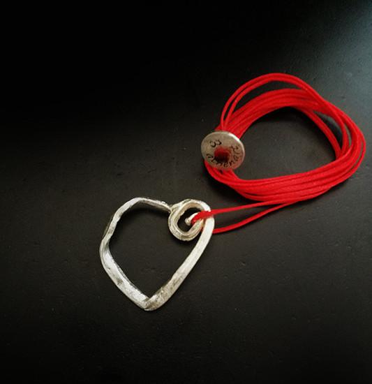 Silver Spiral Heart , heart wholesale jewelry