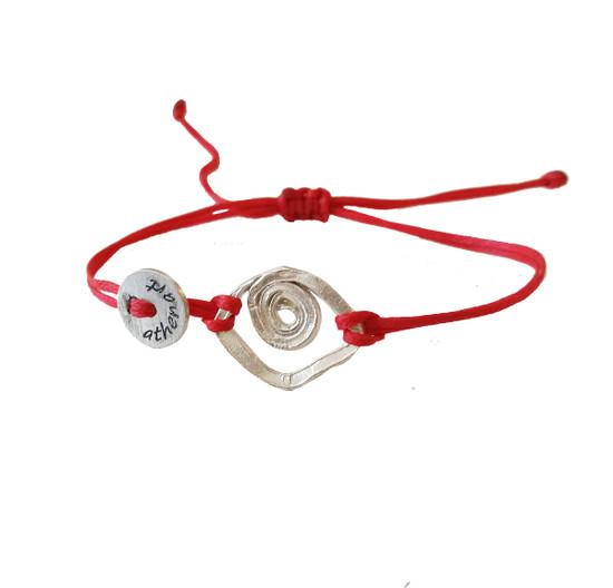 Unisex eye bracelet in sterling silver