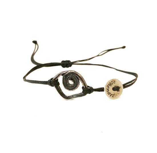 Evil Eye bracelet, spiral eye a unique silver bracelet for everyday