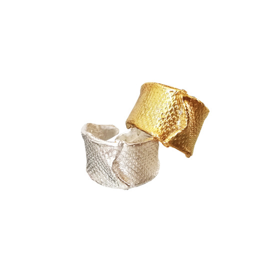 """Contemporary silver ring """"The Wave"""""""