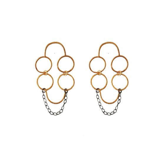 Minimal Long Geometric Earrings made of silver 925 |Desogner Earrings