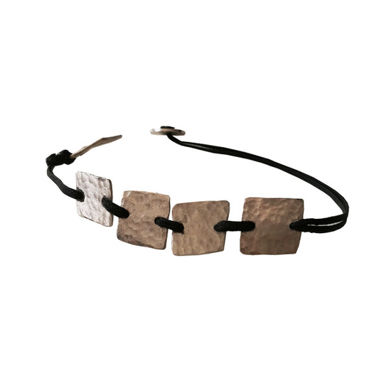 Handmade block bracelet with boho style , casual can be worn all day