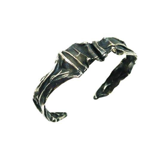 Oxidized Cuff Bracelet inspired by Ancient Greece