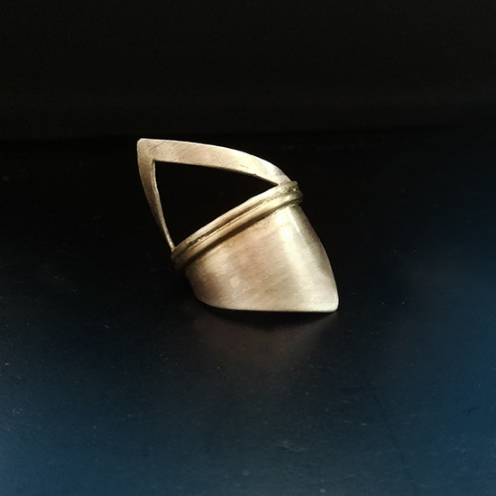 """Triangle Ring """"Shield"""" made of silver 925 Statement Ring Geometric Greek Designers"""