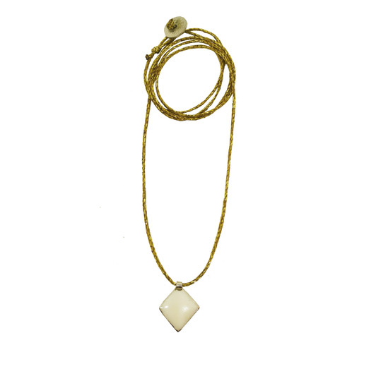 Beautiful gold and white charm necklace for everyday