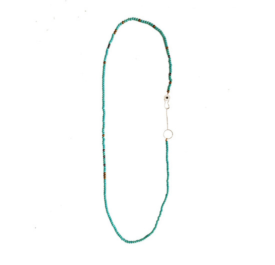 Necklace with Turquoise can be worn in 2 ways