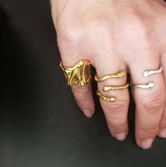 Ophis  Triple (Snake) Ring made of silver 925|Greek Jewellery |Greek Designers