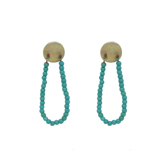 Bohemian earrings, boho jewelry , turquoise