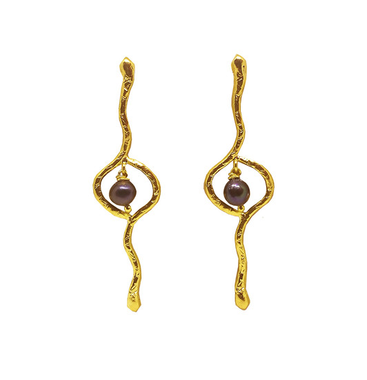 Serpent Earrings Ophion, jewelry inspired by Ancient Greece and Mythology