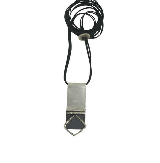 Urban unisex silver pendant