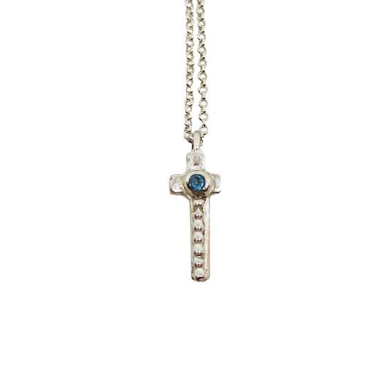 Ioanna Cross, an elegant stylish  cross  made of silver, handmade jewelry for everyday