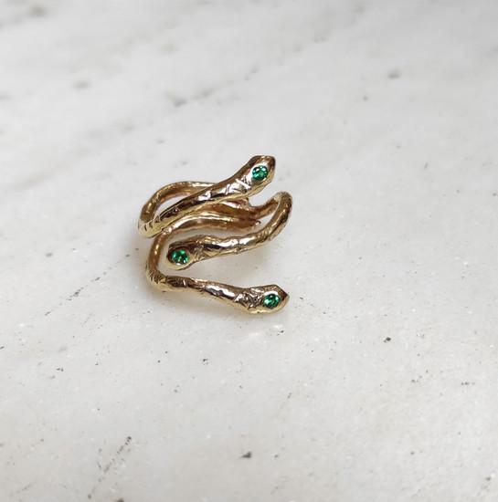 Gold snake ring by Athena Papa , greek jewelry