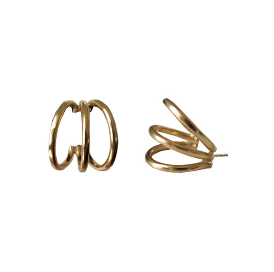 """Hoop Earrings """"Tria"""" a minimal and bold design for everyday"""
