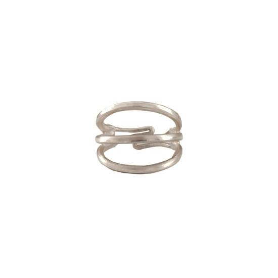 Minimal silver ring by greek designers