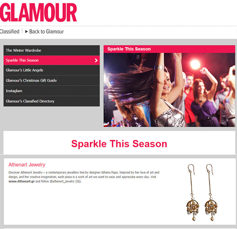 Glamour Magazine Uk  -Corona Luxury Earrings