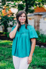 Easy On The Eyes Teal Top
