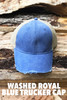 Washed Royal Blue Trucker Cap