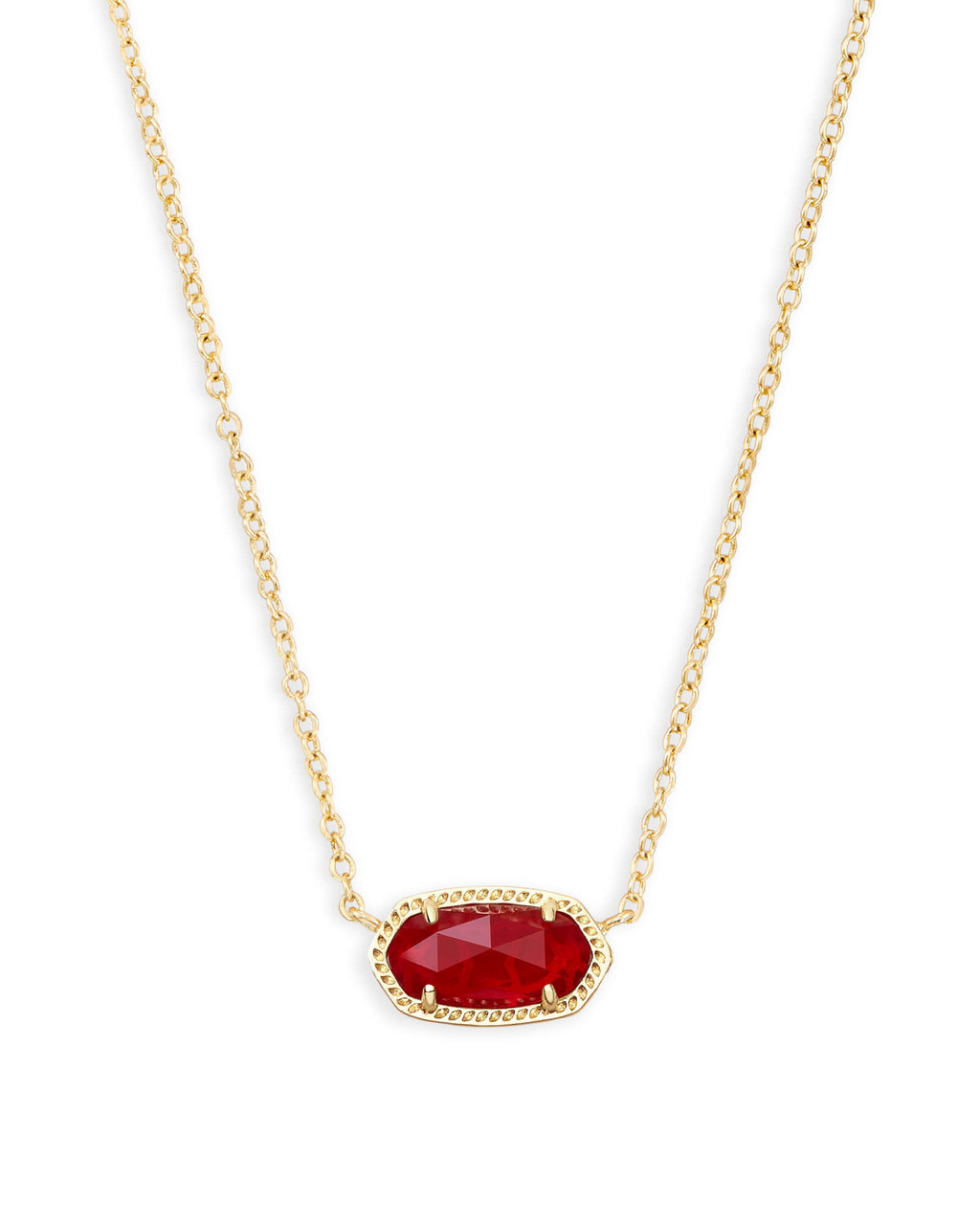 665f8cb6c4d Elisa Gold Pendant Necklace in Ruby Red