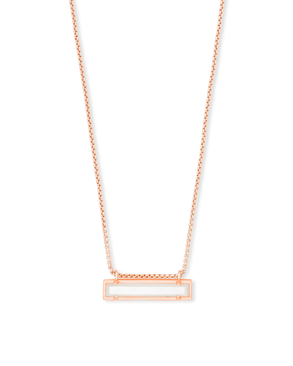6fa672449bbc6 Leanor Rose Gold Pendant Necklace in Ivory Mother of Pearl