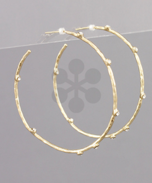 Moving On Gold Hoops