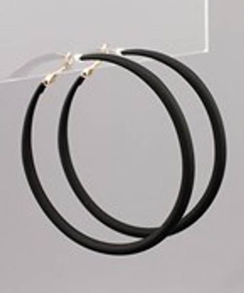 Round It Out Black Hoops
