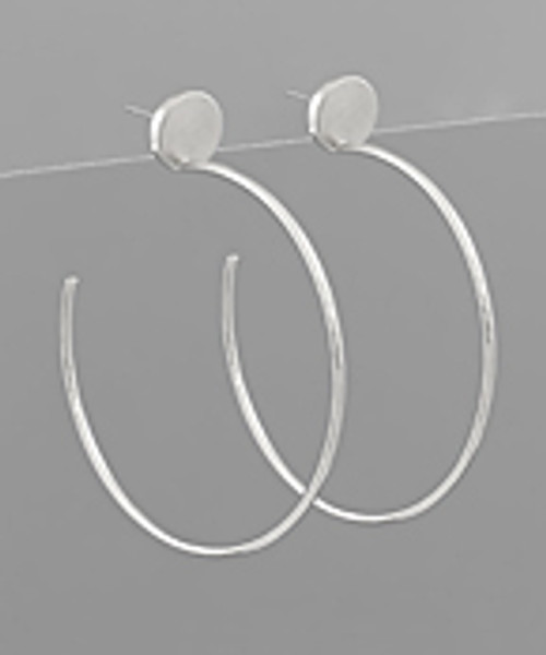 Perfectly Fine Silver Hoops