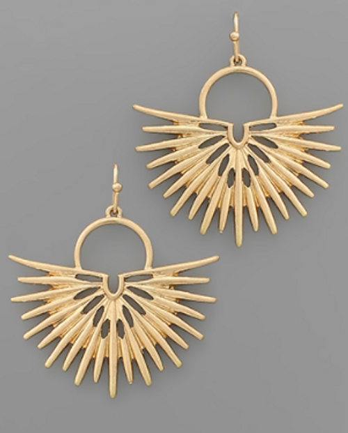 About To Burst Gold Earrings