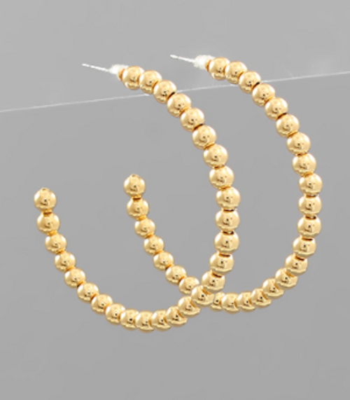 In A Row Gold Hoops