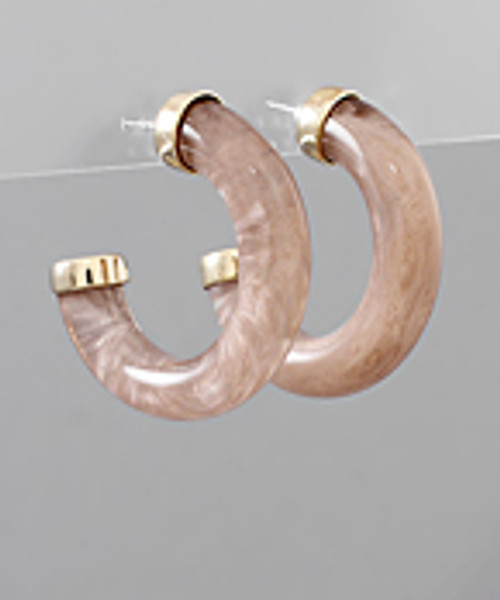 Best Of Luck Taupe Hoops